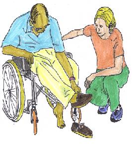 support dressing from Non paid carer