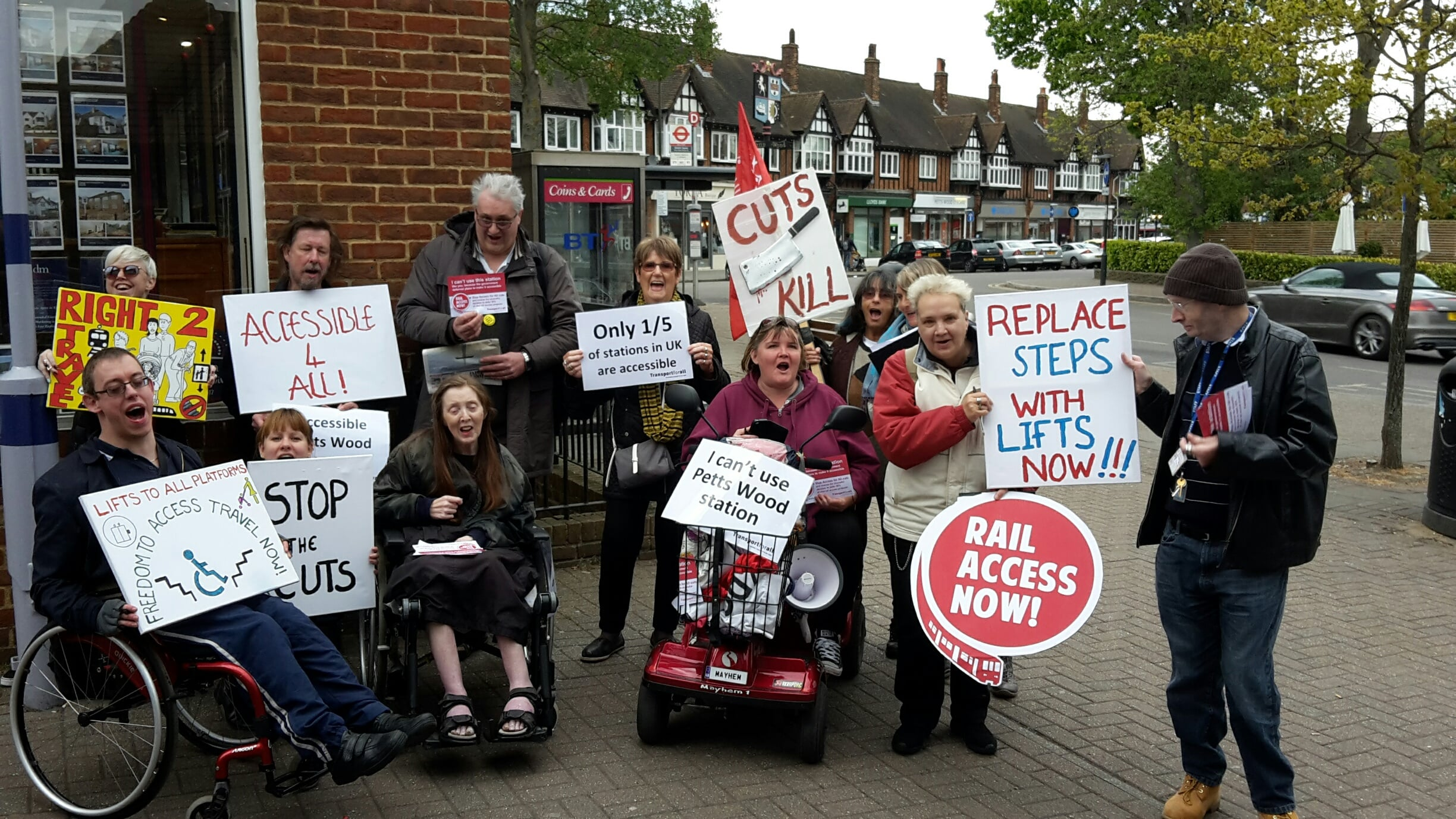 Rail Access Now Protest Petts Wood Station