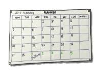 Calendar page