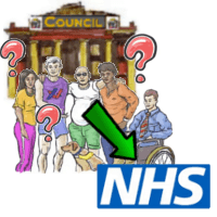 Council screening referrals to NHS