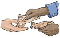money-handover