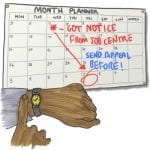 Monthly Planner sanctions appeal deadline watch square copy 400