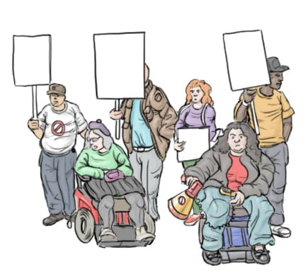 disabled people campaigning