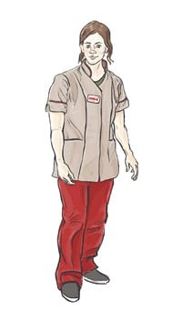 Carer in uniform