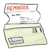Reminder notice